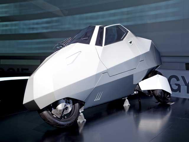 """Imagen de Galeria de BMW Simple: scooter """"tapado"""" de tres ruedas"""