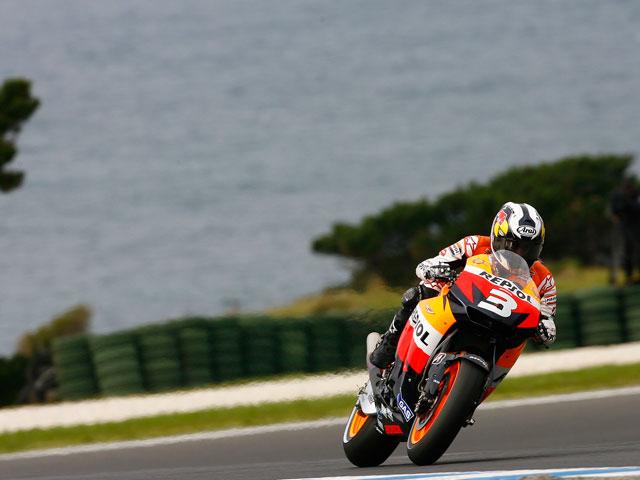 Casey Stoner (Ducati), duro rival para Rossi en Australia
