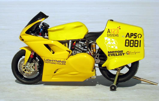 Imagen de Galeria de Moto eléctrica. Récord de velocidad: 267 km/h
