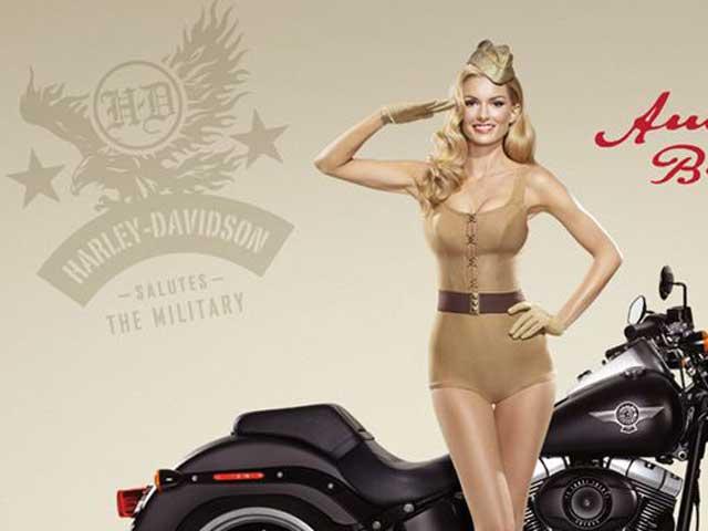 Harley-Davidson y la modelo Marisa Miller homenajean a los Marines americanos