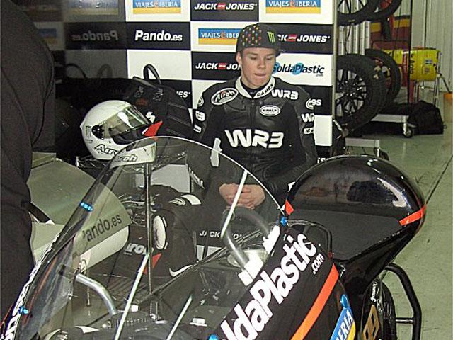 Danny Webb se estrena con el equipo WRB