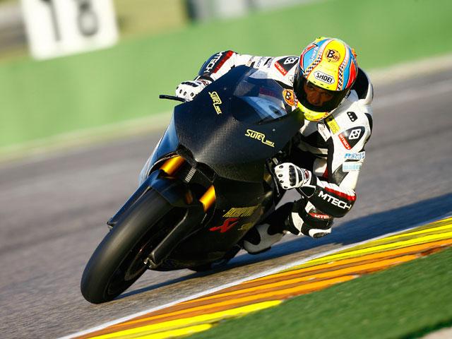 Segunda jornada de pruebas en Valencia con las Moto2