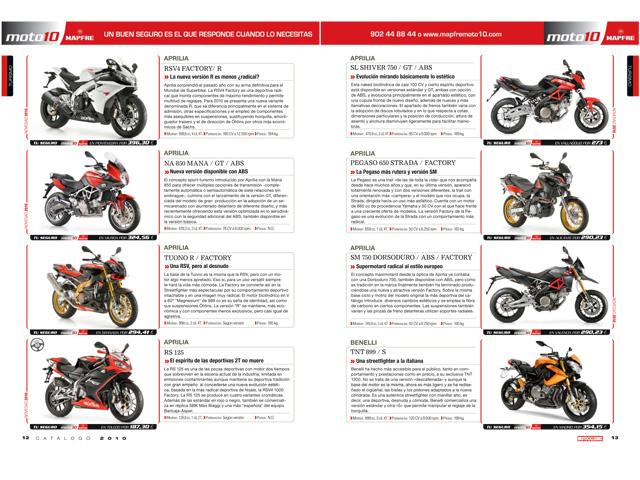 Motociclismo Catálogo 2010