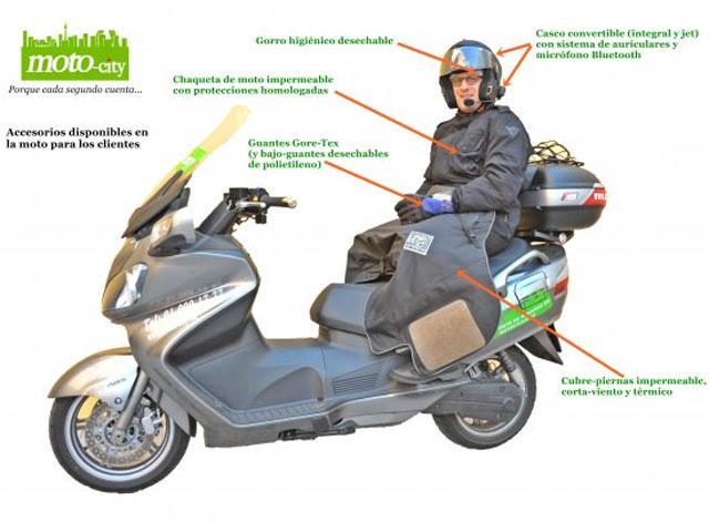La moto- taxi llega a Madrid
