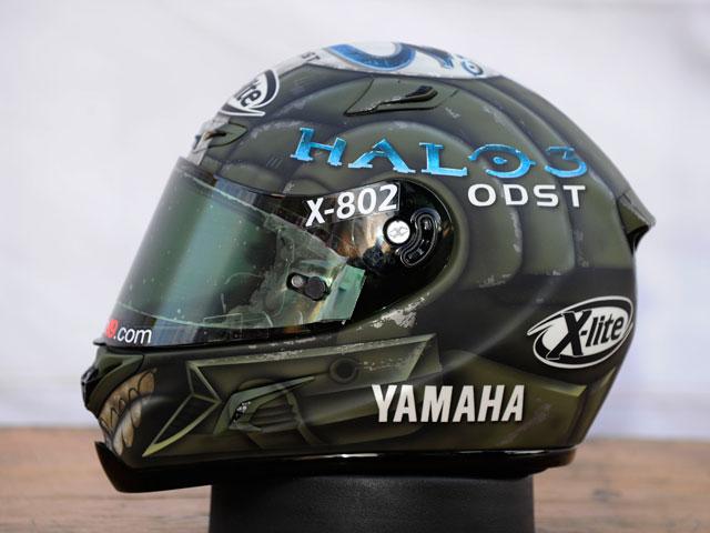 """El casco """"Halo3: ODST"""" de Jorge Lorenzo puede ser tuyo"""