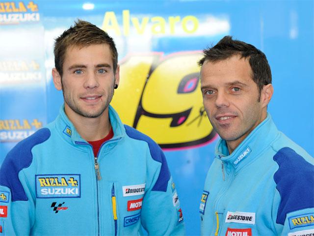 Álvaro Bautista ya viste los colores del Suzuki Rizla
