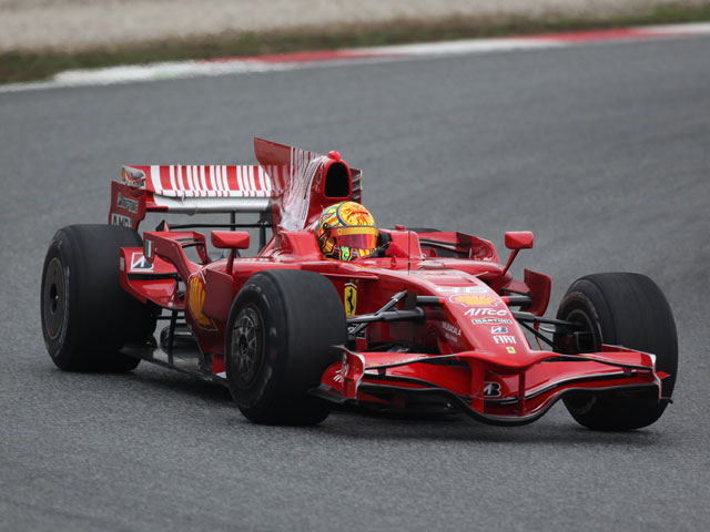 Valentino Rossi concluye sus entrenamientos con Ferrari