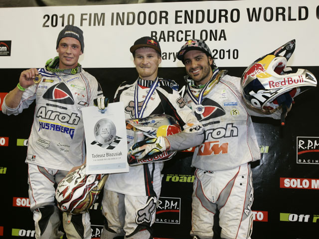 Tadeusz Blazusiak gana en en el Enduro Indoor de Barcelona