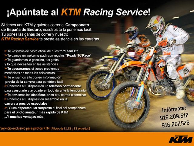 KTM y Husaberg, con los pilotos privados en el Nacional de Enduro