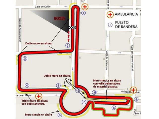 Agostini y Read, en el circuito urbano de Cullera