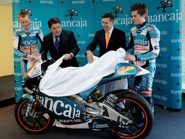 Bancaja continúa con el patrocinio del equipo Aspar de 125 cc