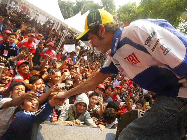Valentino Rossi y Jorge Lorenzo, en Indonesia