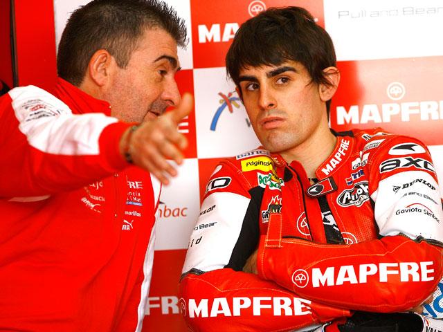 Julito Simón prueba la Ducati