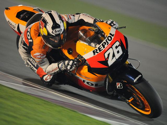 Valentino Rossi fue el más rápido en la primera sesión de MotoGP de Qatar