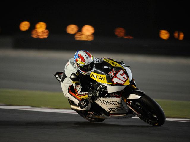 Tomizawa, Debón y Cluzel, primer podio de Moto2