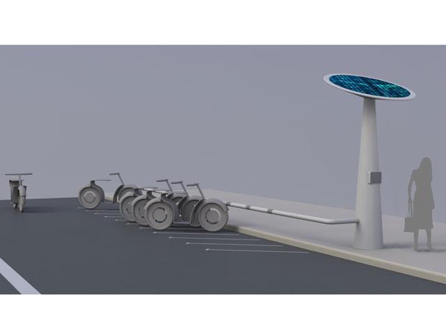 MOBECPOINT, punto multiusuario de recarga eléctrica para motos