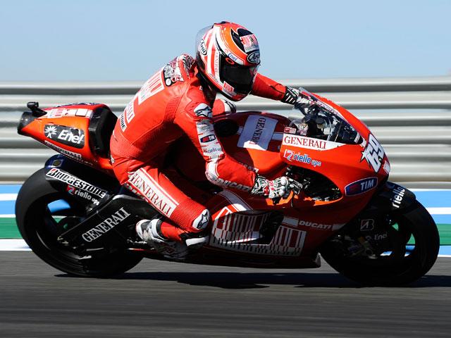 Lorenzo le disputa la victoria a Pedrosa en el Gran Premio de España