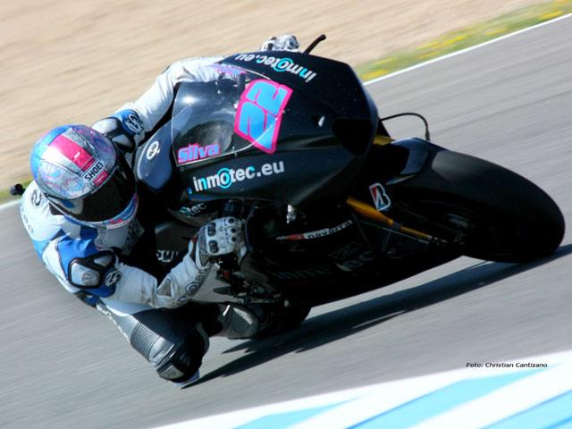 Inmotec prueba su moto de MotoGP en el Circuito de Jerez