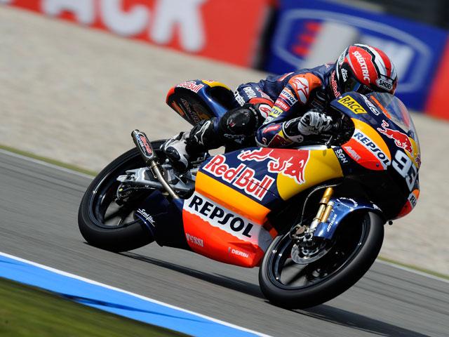 Lorenzo, Iannone y Márquez lideran la segunda sesión de libres en Assen