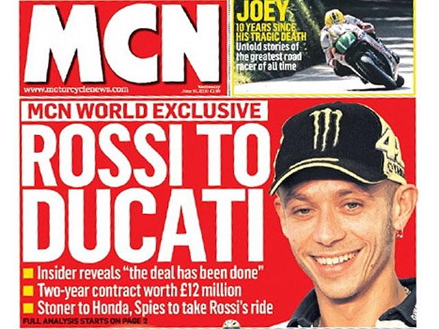 Valentino Rossi podría confirmar su fichaje por Ducati en el GP de Cataluña