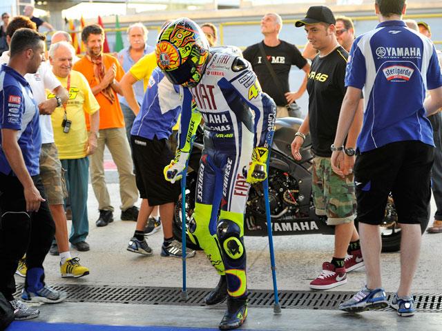 Valentino Rossi mejora y podría estar en Alemania