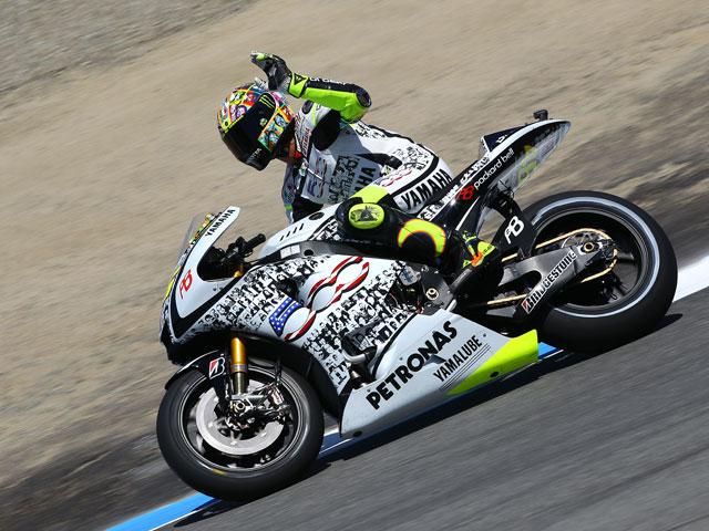 Lorenzo conquista Laguna Seca, y Rossi sube al podio