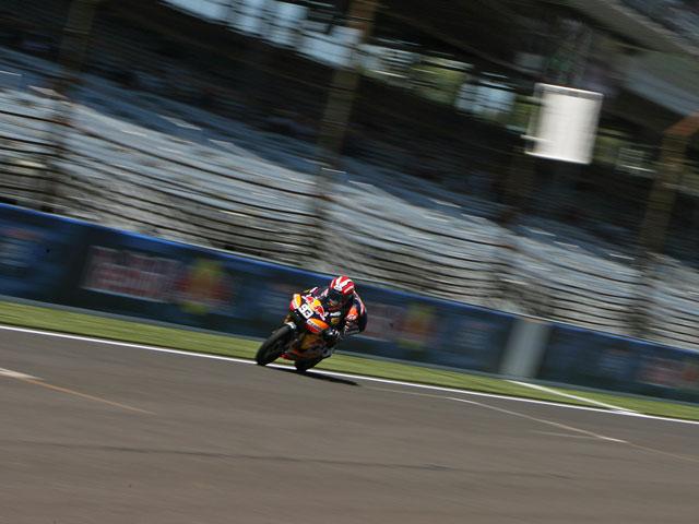 Casey Stoner, Marquez y Redding, líderes en los libres del GP de Indianápolis