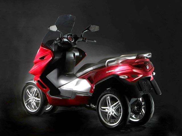 Quadro 4D, nace un scooter de cuatro ruedas