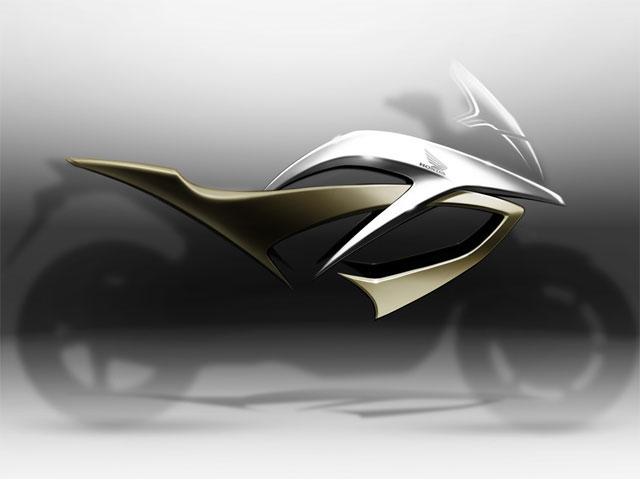 Imagen de Galeria de Imagen frontal de la nueva Honda con motor V4