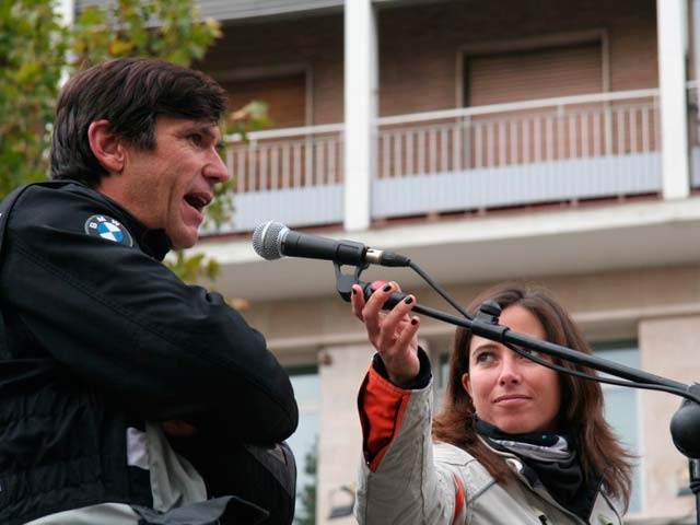 Miles de motos se manifiestan en Madrid y Canarias