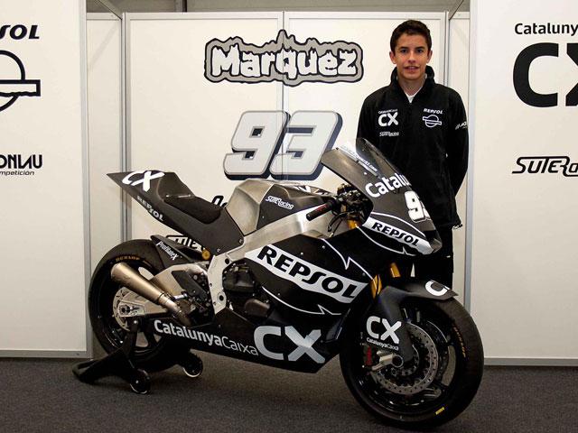 Marc Márquez se estrena con la Moto2 en Jerez