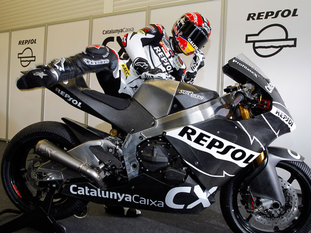 Marc Márquez rueda con la Moto2