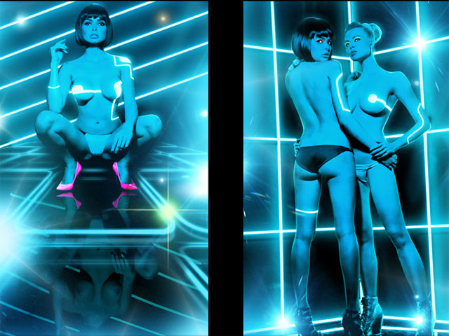 Playboy rinde tributo a la película Tron Legacy
