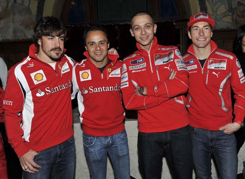 Valentino Rossi, por primera vez vestido de rojo Ducati