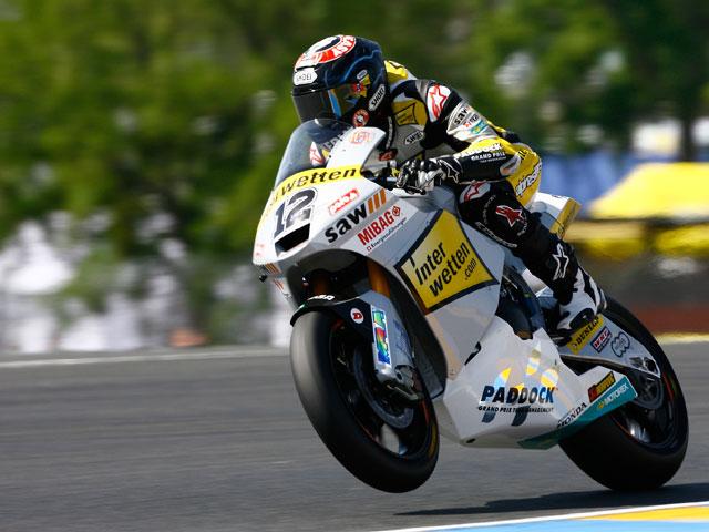 Bradl será primero en la salida de Moto2 en Le Mans