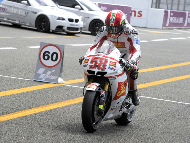 """Dani Pedrosa: """"Me voy con una clavícula rota y Simoncelli con un ride throught"""""""