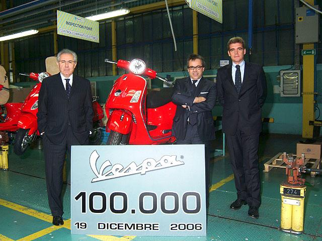 Vespa celebra su unidad 100.000