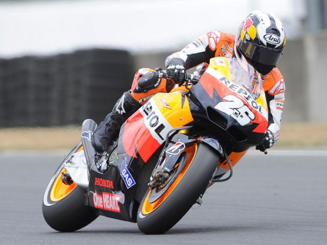 Marco Simoncelli, heroe en casa en los libres del GP de Italia de MotoGP
