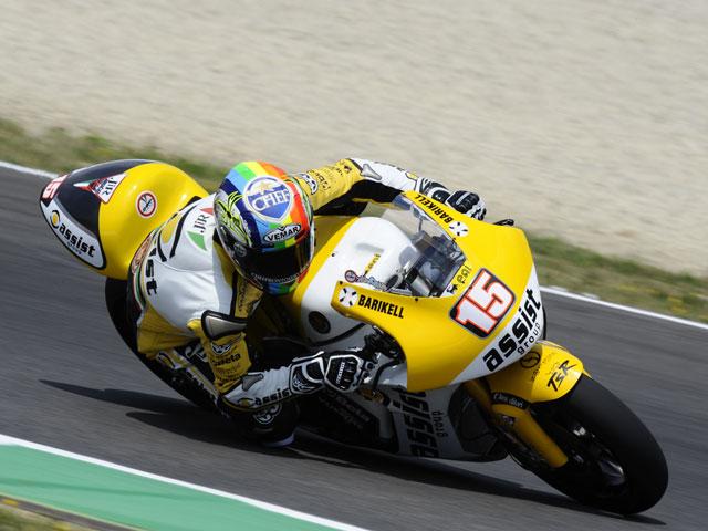 Marco Simoncelli, Nico Terol y De Angelis los más rápidos en los primeros libres