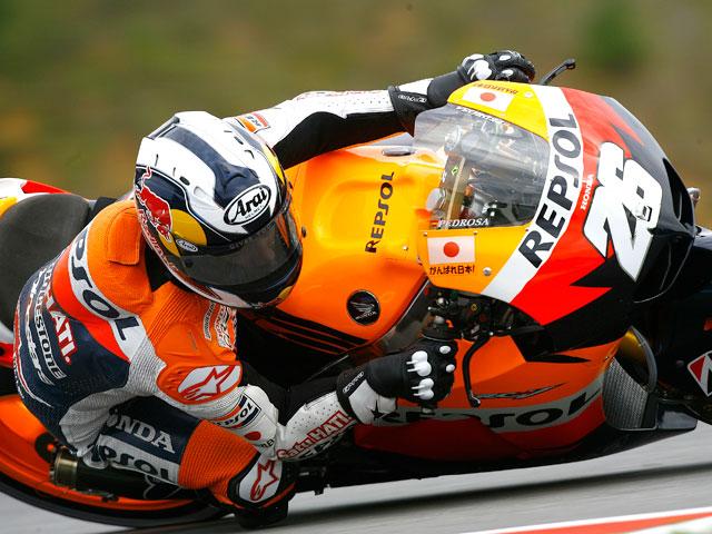 Dani Pedrosa logró el mejor tiempo en los entrenamientos del viernes de MotoGP