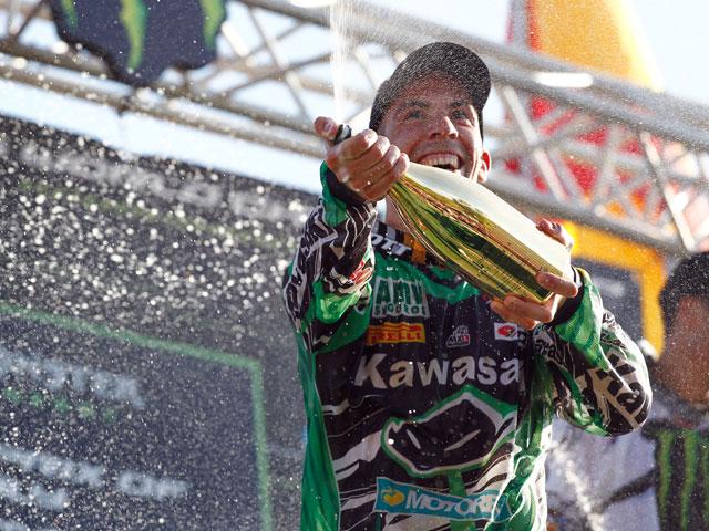 Podio de Barragán en el Mundial de Motocross