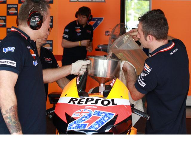 El consumo de gasolina en MotoGP