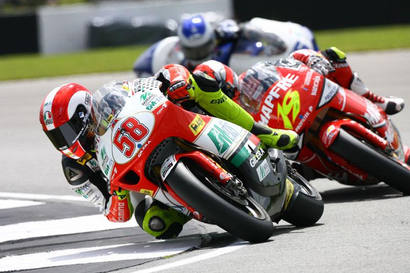 GP de Gran Bretaña 2008. 250 cc. Bautista, Simoncelli