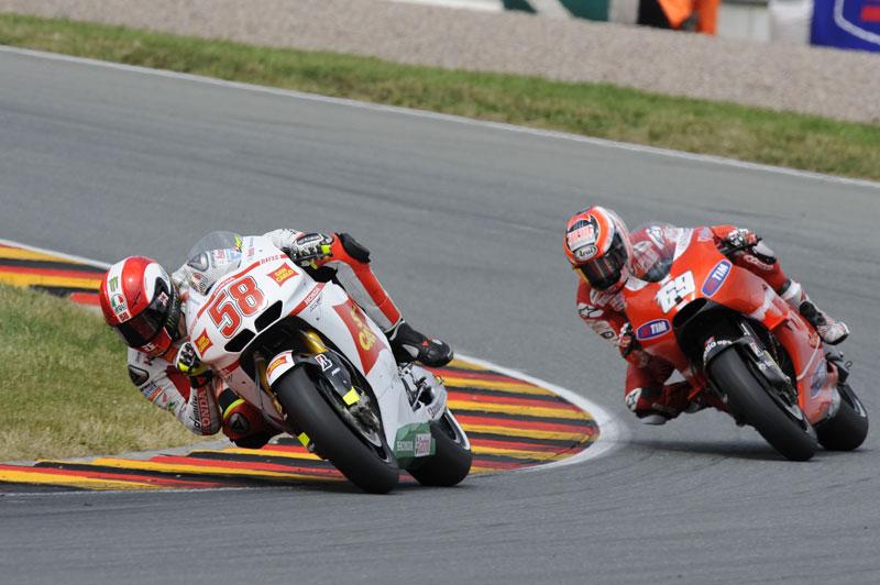 GP de Alemania 2010. MotoGP. Simoncelli, Hayden