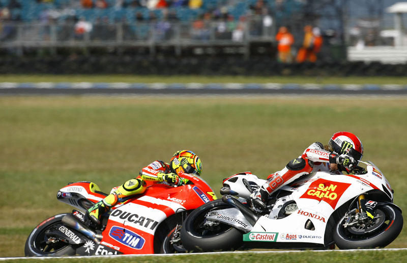 GP Australia 2011. MotoGP. Rossi, Simoncelli