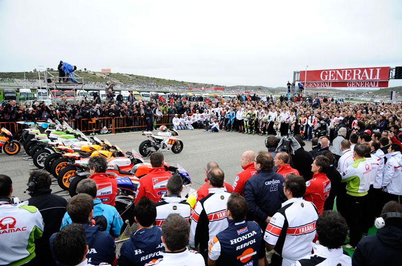 Homenaje a Marco Simoncelli en el Gran Premio de Valencia