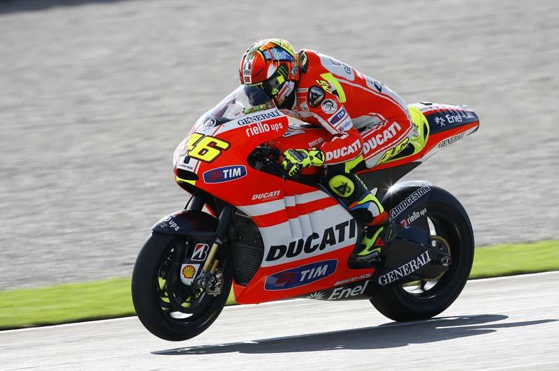 Entrenamientos MotoGP en Valencia  pretemporada 2012