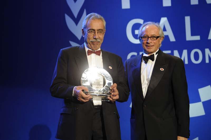 Andrés Perez Rubio, galardonado por su labor por la seguridad vial