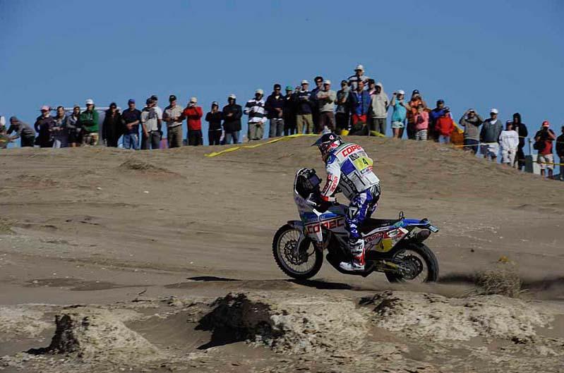 Dakar 2012. Etapa 1. Chaleco Lopez