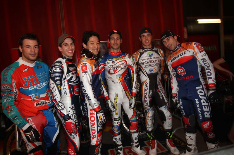 Todos los pilotos del Trial Indoor de Ginebra